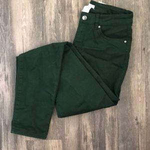 Forest Green Refuge Colored Skinny Jeans